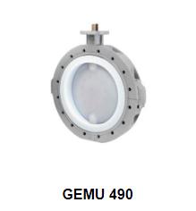 Butterfly valve with bare shaft GEMU 490 Edessa - Đại lý phân phối Gemu Việt Nam