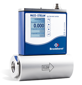 Direct Thermal Mass Flow Meter for Gases, IP65 protected D-6370 MFM Bronkhorst