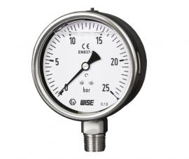 Đồng hồ đo áp suất có dầu P258 Wise - Đại lý Wisecontrol VietNam