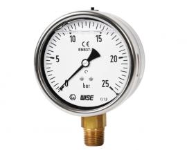 Đồng hồ đo áp suất có dầu P259 Wise - Đại lý wisecontrol Việt Nam