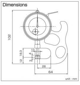Dụng cụ đo độ dày (SM-112) Teclock