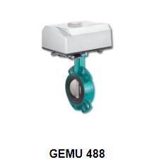Motorized butterfly valve GEMU 488 Victoria - Đại lý Gemu Việt Nam